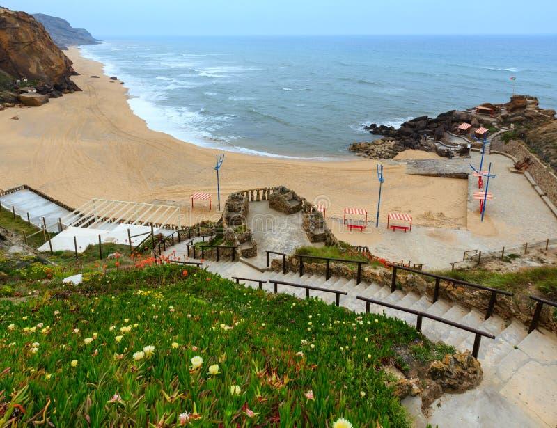Прая делает Guincho Santa Cruz, Португалию стоковые фотографии rf