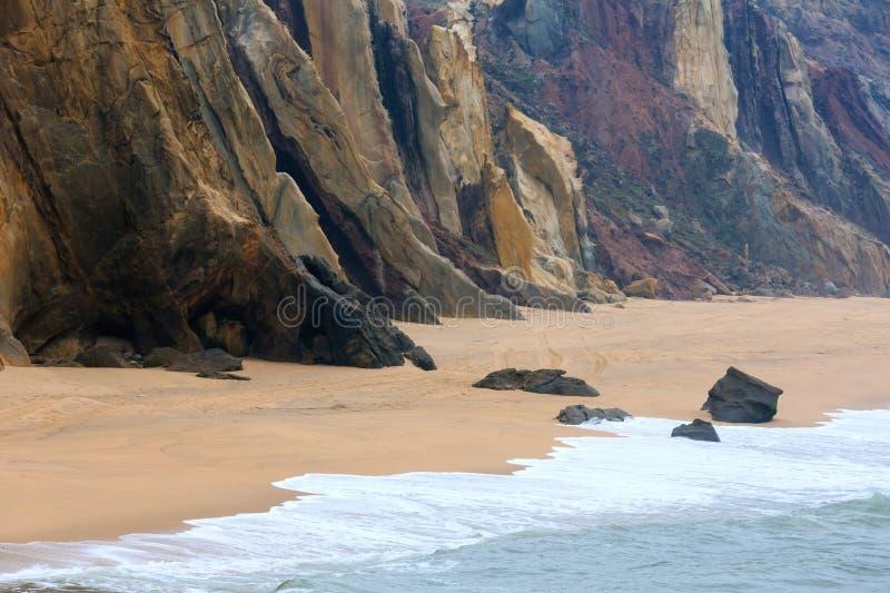 Прая делает Guincho Santa Cruz, Португалию стоковые фото