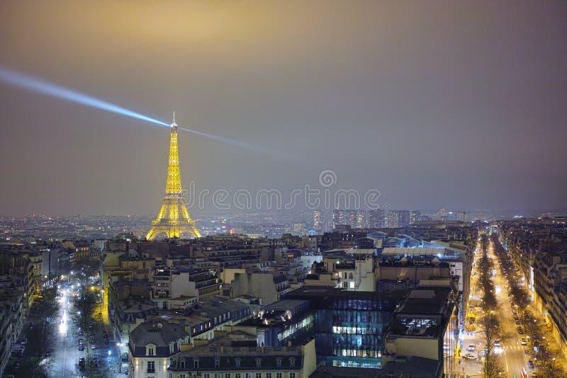 Париж на ноче стоковое фото rf
