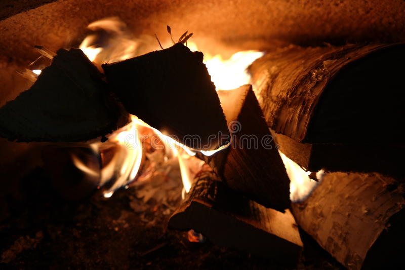 Превосходный огонь пламени стоковое фото
