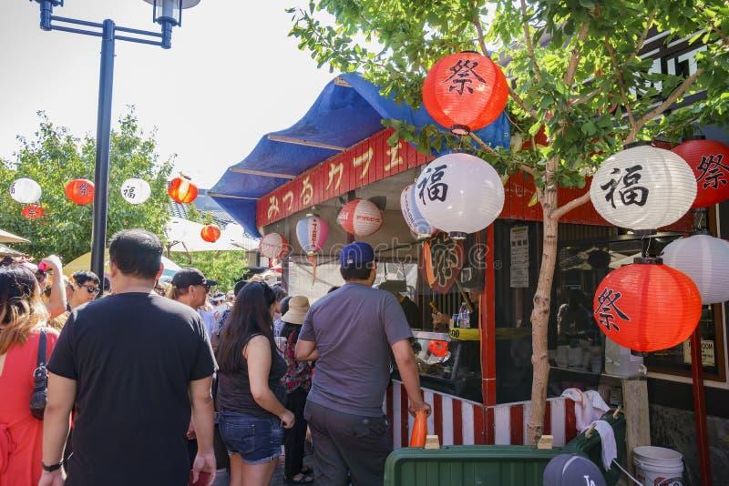 Превосходный фестиваль недели Nisei на меньшем токио стоковые фотографии rf