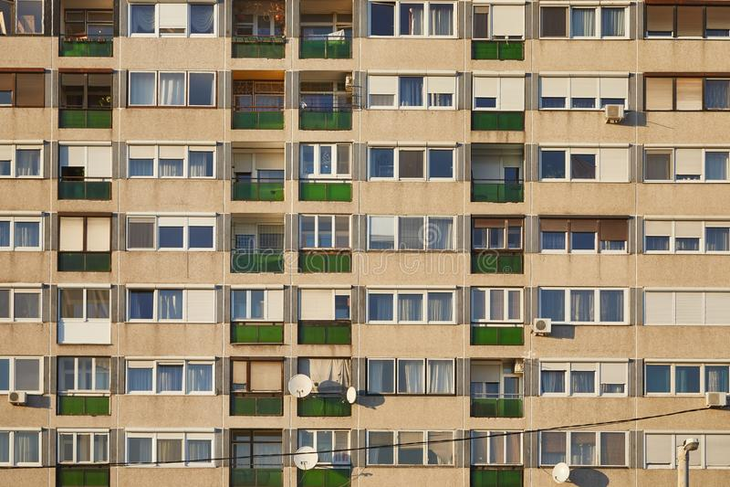 преградите взгляд вертикали квартир стоковое изображение rf