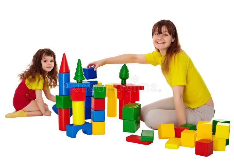 преграждает играть мати дочи счастливый стоковая фотография rf