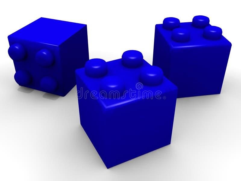 преграждает игрушку lego иллюстрация вектора