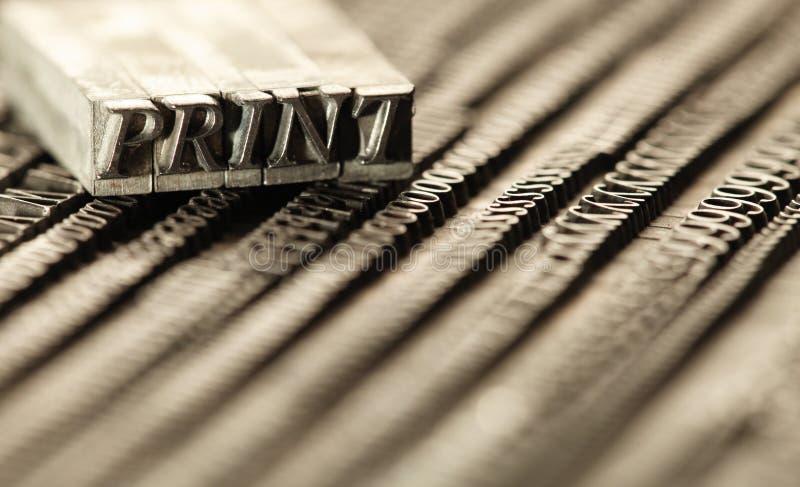 преграждает letterpress стоковое фото rf