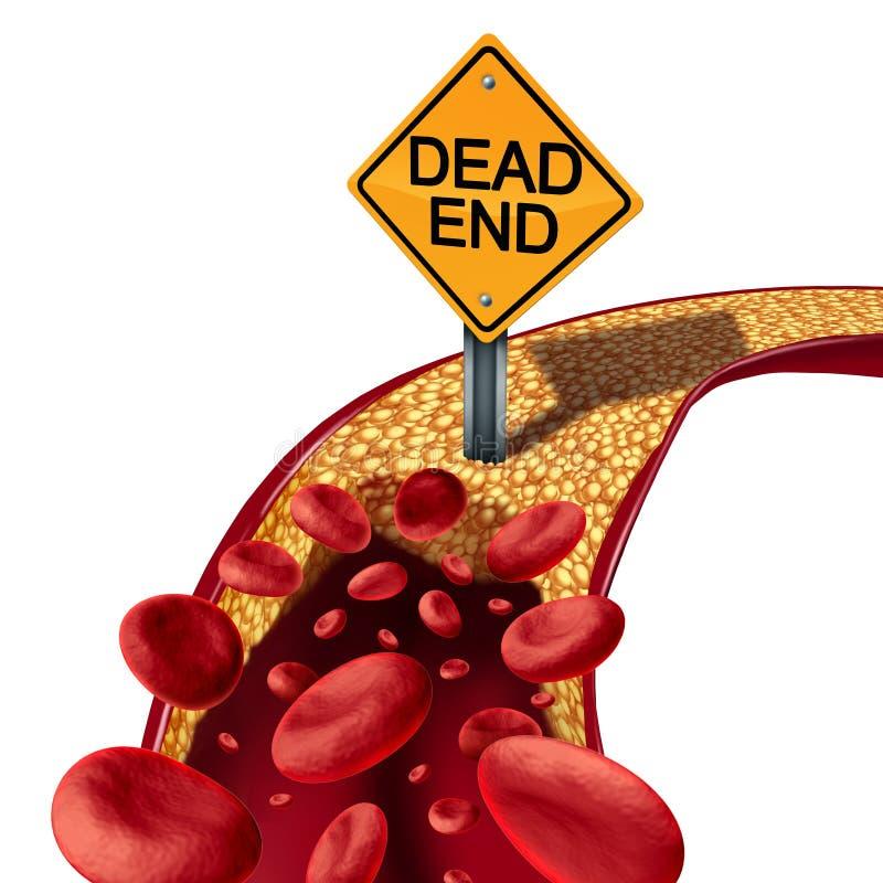 Преграженная концепция артерии медицинская иллюстрация штока