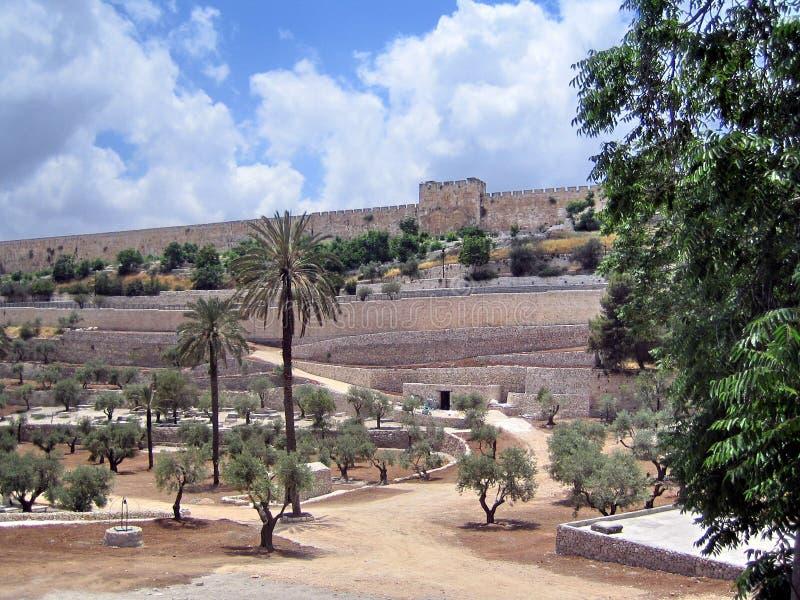 Преграженный восточный строб, старый Иерусалим. Золотой строб. стоковые фотографии rf