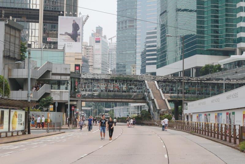 преграженный с улиц в централи Гонконга стоковые фото