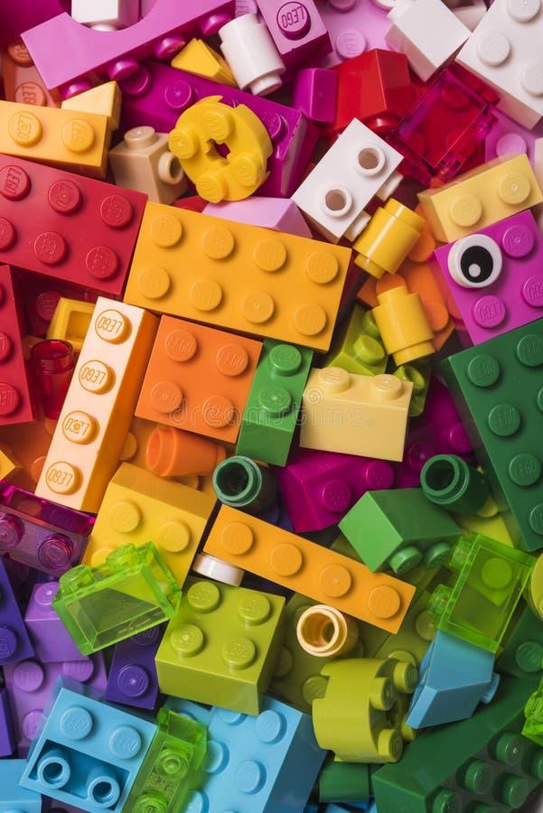 преграждает lego стоковое фото rf