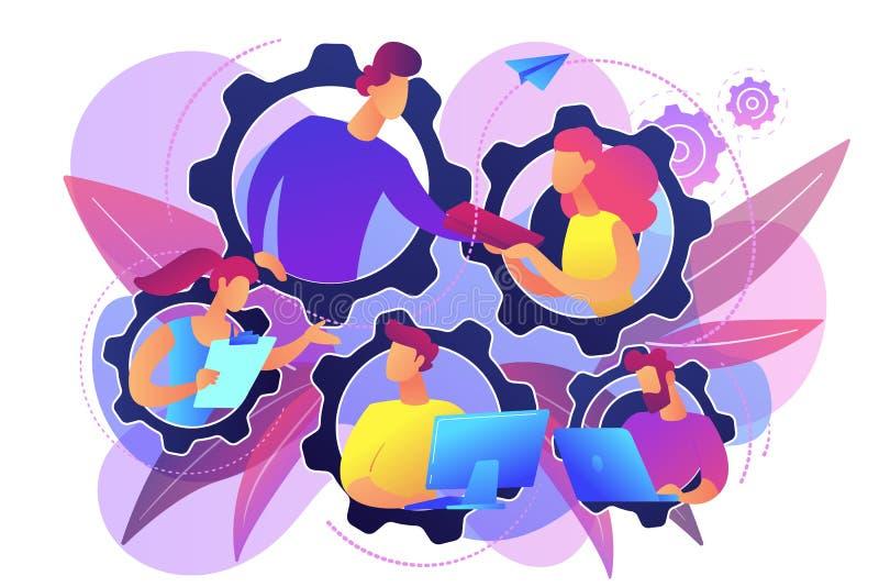 Преданная команда оно иллюстрация вектора концепции бесплатная иллюстрация