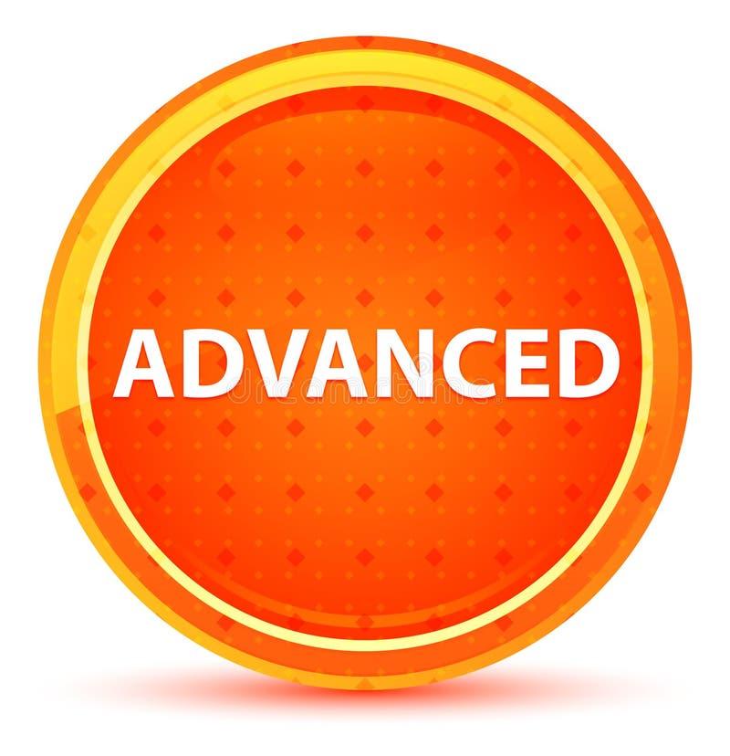 Предварительная естественная оранжевая круглая кнопка иллюстрация штока