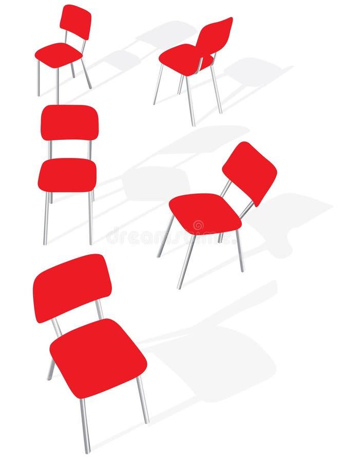 предводительствует красный цвет иллюстрация вектора