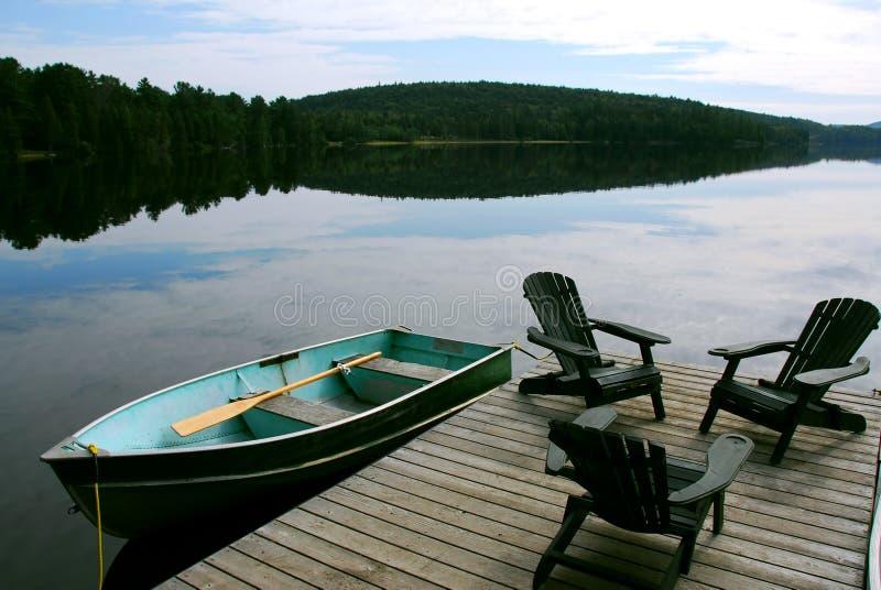 предводительствует озеро стоковое фото