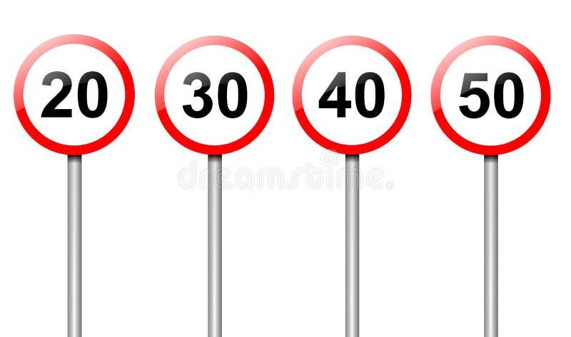 предел подписывает скорость иллюстрация вектора
