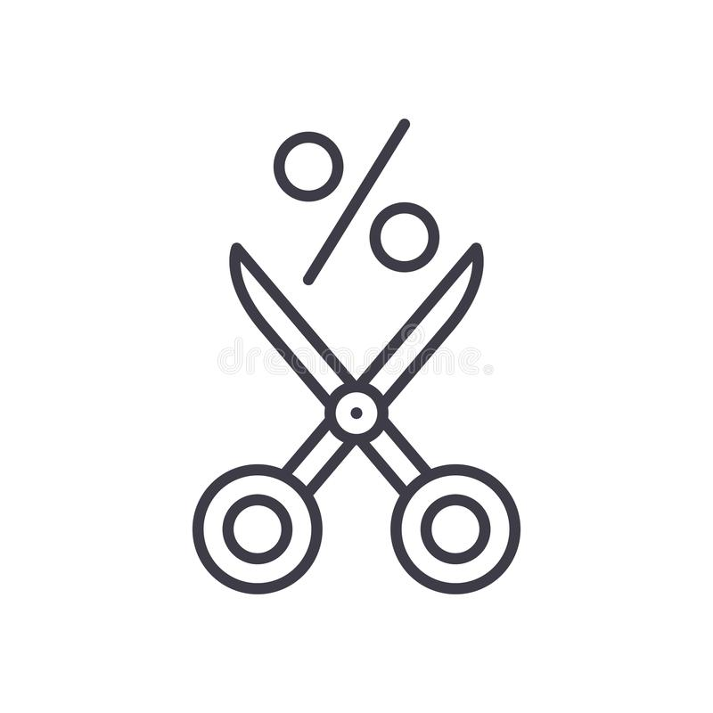 Предлагать концепцию значка черноты скидки Предлагающ скидке плоский символ вектора, знак, иллюстрация иллюстрация штока