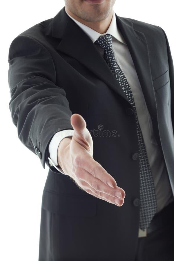 предлагать рукопожатия бизнесмена стоковые изображения rf