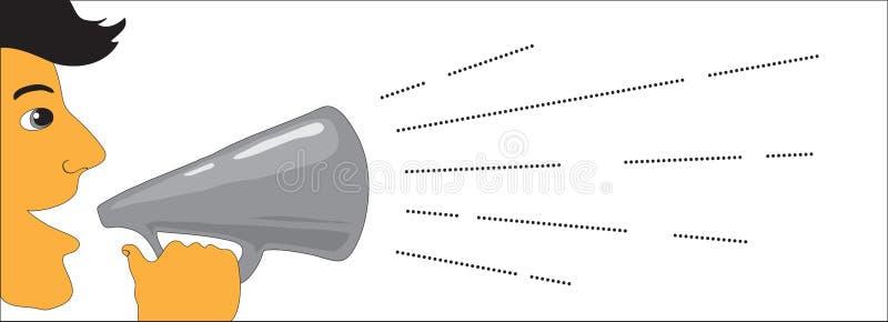 предложение весточки иллюстрация вектора