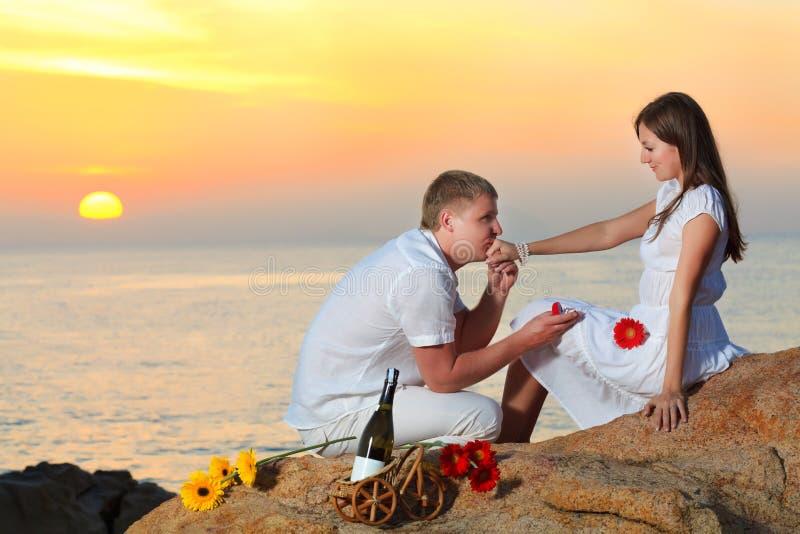 предложение замужества стоковая фотография rf