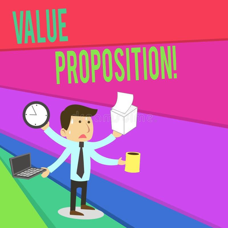 Предложение значения сочинительства текста почерка Концепция знача обслуживание делает компанию или продукт привлекательными к кл иллюстрация вектора
