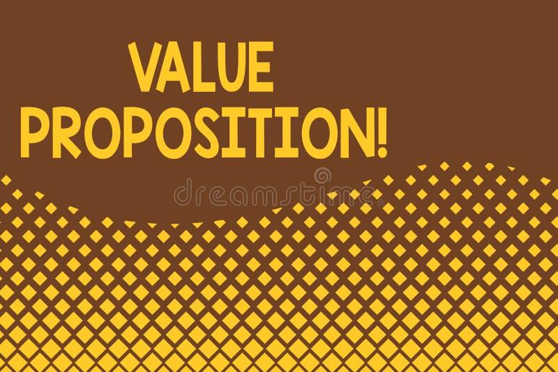 Предложение значения текста почерка Концепция знача обслуживание делает компанию или продукт привлекательными к конспекту клиенто иллюстрация штока