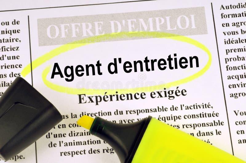 Предложение о работе агента обслуживания стоковое фото