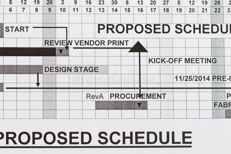 предложенный план-график стоковые фото