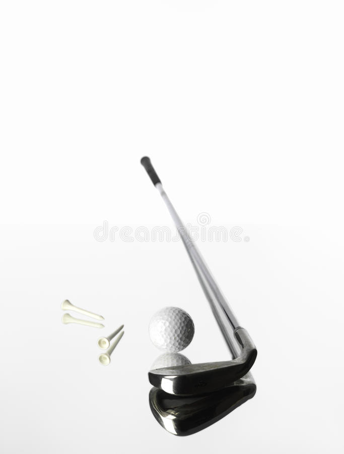 предметы гольфа стоковая фотография