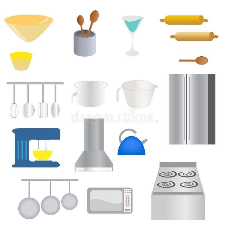 предметы кухни иллюстрация вектора