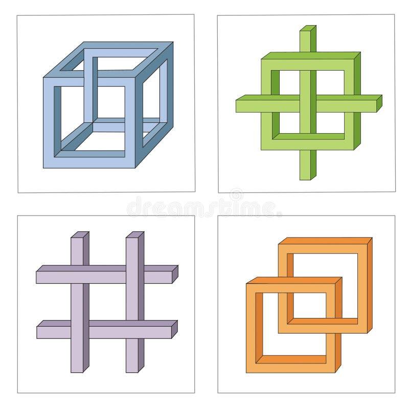 предметы различных иллюзионов невозможные оптически бесплатная иллюстрация