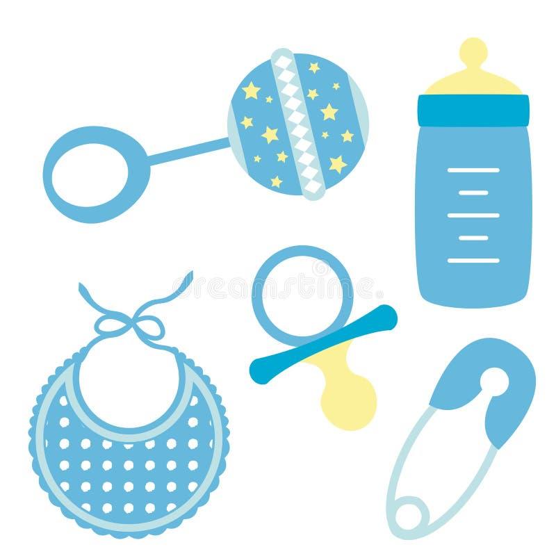 предметы ребёнка иллюстрация вектора