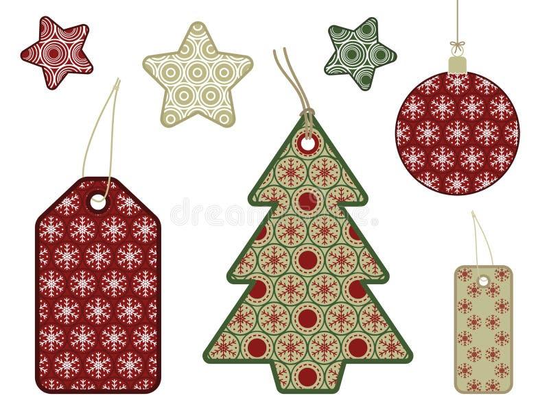 предметы рождества иллюстрация вектора
