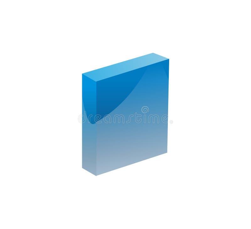 предмет голубой коробки иллюстрация вектора