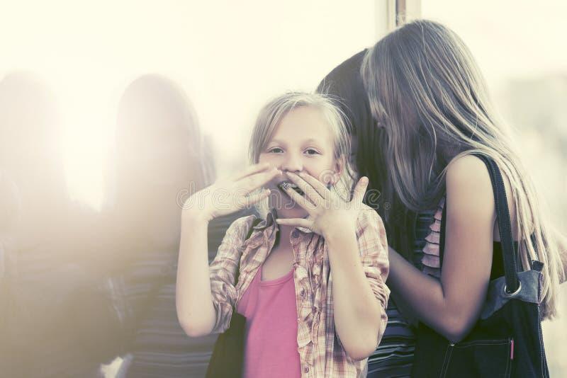 Предназначенные для подростков девушки смотря через окно торгового центра стоковое изображение