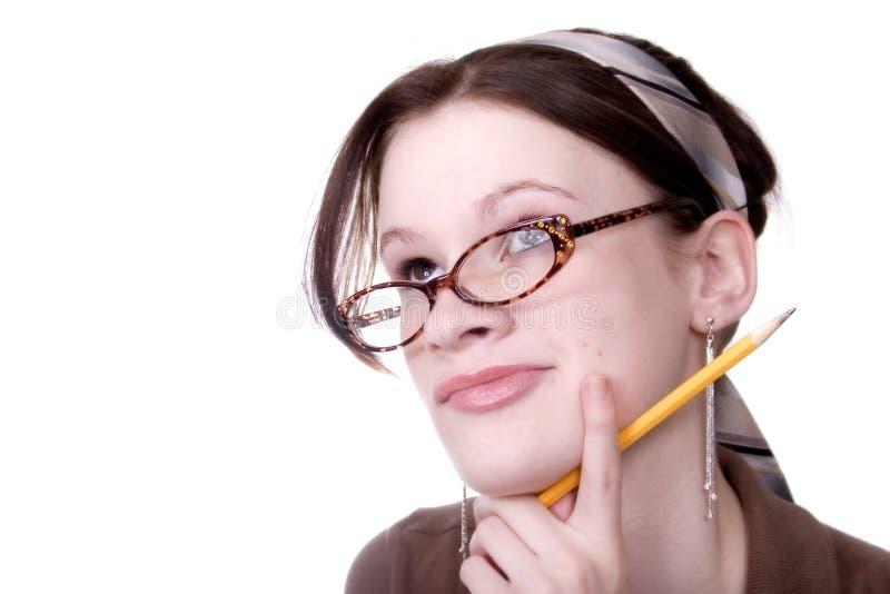 предназначенный для подростков мыслитель стоковое фото rf