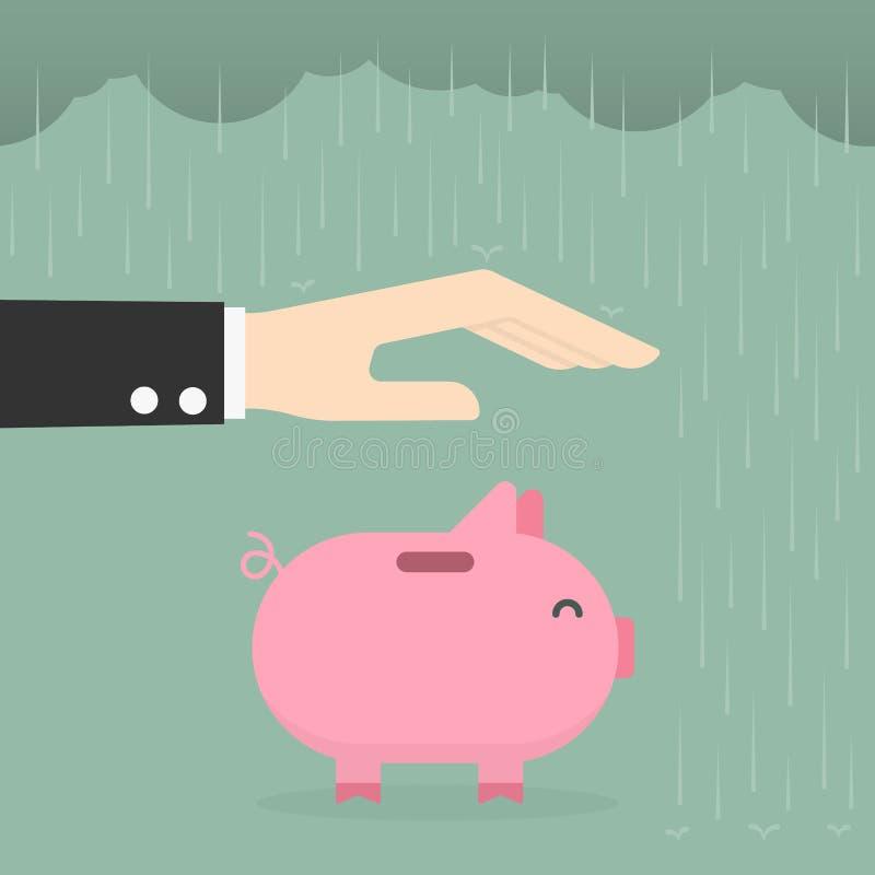Предохранение от денег Милая иллюстрация doodle мультфильма иллюстрация вектора