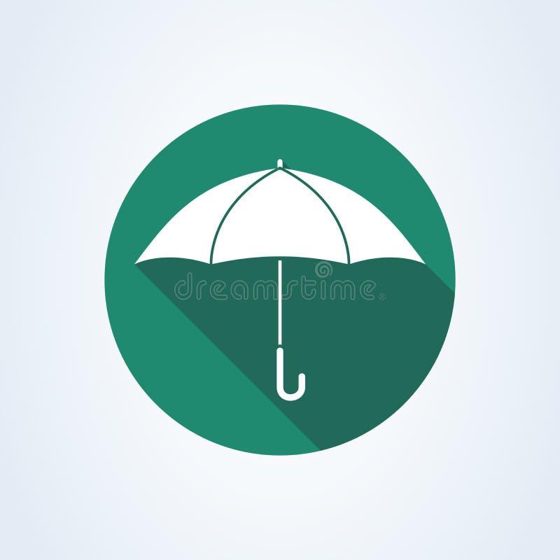 Предохранение от знака зонтика r Значок иллюстрации вектора изолированный на белой предпосылке иллюстрация штока