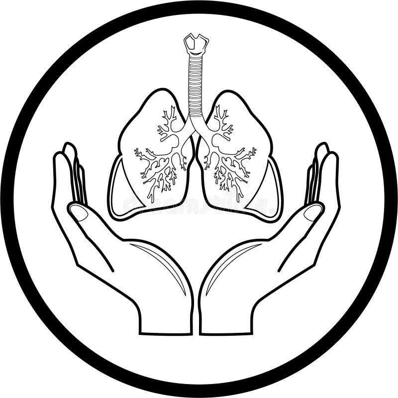 предохранение от легкй иконы медицинское иллюстрация штока
