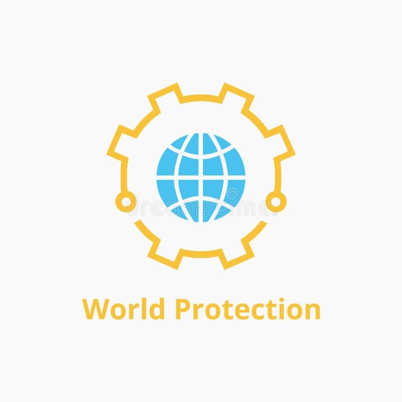 Предохранение от логотипа мира стоковая фотография rf