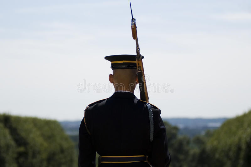 предохранитель изменения кладбища arlington стоковая фотография rf