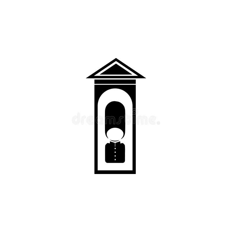 Предохранитель Лондона на значке столба бесплатная иллюстрация