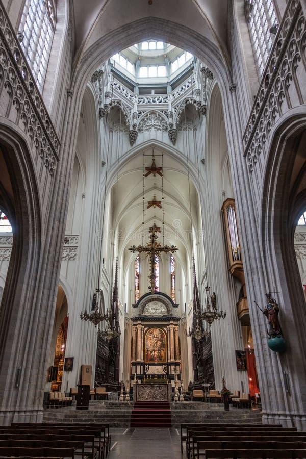 Предположение девой марии над алтаром, Антверпеном Бельгией стоковая фотография rf
