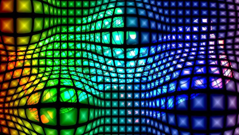 Предпосылка абстрактного вектора пестротканая текстурированная с световым эффектом, иллюстрацией вектора