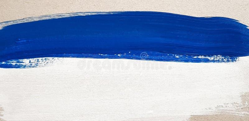 Предпосылка абстрактного голубого искусства крася стоковое изображение rf