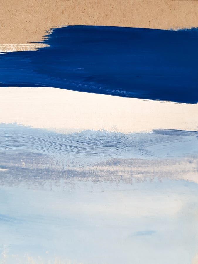 Предпосылка абстрактного голубого искусства крася стоковая фотография