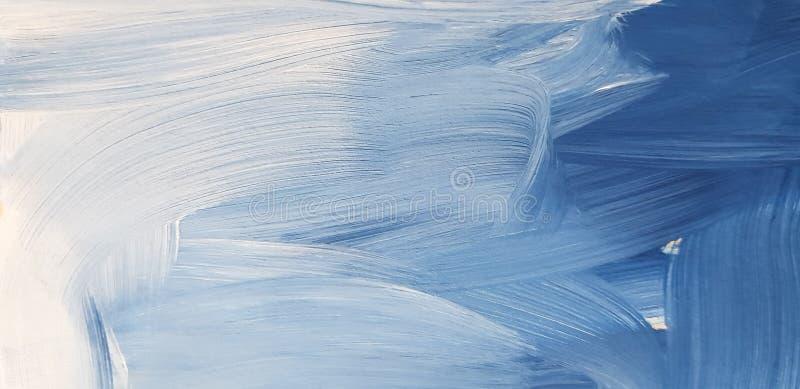 Предпосылка абстрактного голубого искусства крася Абстрактные волны стоковые изображения