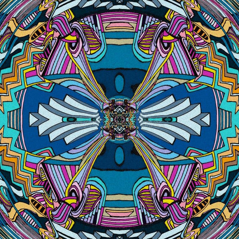 предпосылка абстрактного искусства Игра линии и цветов бесплатная иллюстрация