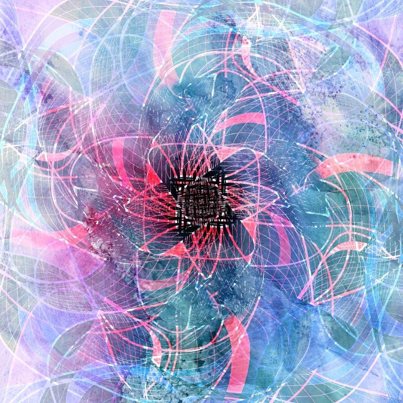Предпосылка абстрактной акварели яркая с различное красочным иллюстрация вектора