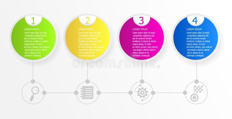 Предпосылка абстрактной временной последовательности по круга infographic бесплатная иллюстрация