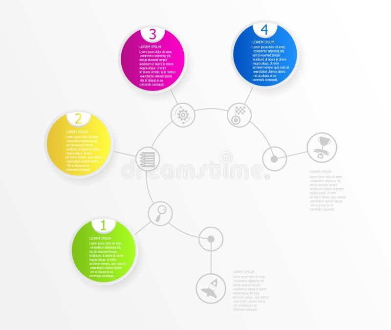 Предпосылка абстрактной временной последовательности по круга infographic иллюстрация штока