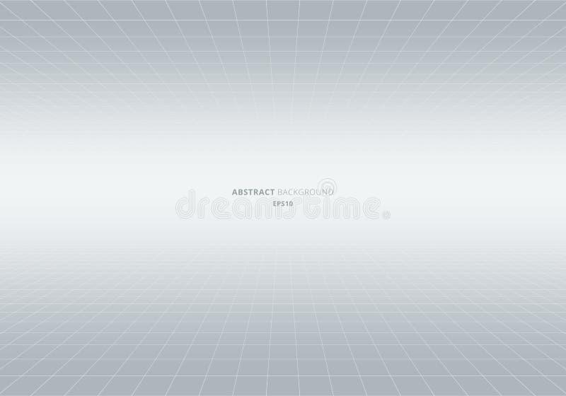 Предпосылка абстрактной геометрической перспективы картины квадратов белая и серая Измерительные линии светлый фон Вы можете испо иллюстрация вектора